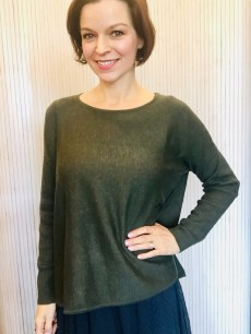 Short Olive Tunic Button Back £69.99