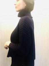 Ochre funnel neck sweater Navy £155