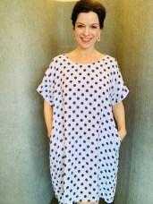 Linen dress Blue Spot £59 One Size