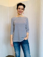 Amberley Top Cornish Stripe Cotton Stripe Blue £36
