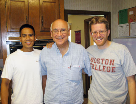 Brother Ed (center) with former aspirants Dennis (left) and Bob (right)