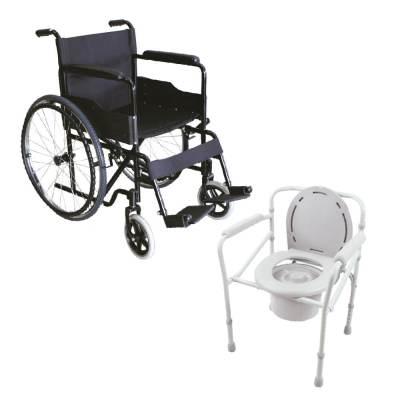 Combo Silla de ruedas + inodoro