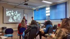 Coordenadora do Curso professora Dr. Fernanda Kieling Pedrazzi e Professora Darcila de La Cana Castelan