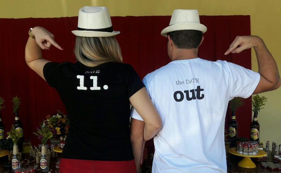 cha bar Paulinha e Leandro camisas