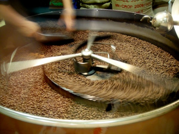 Coffee roasting in Rome