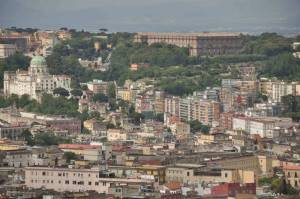 Panoramic view of Naples, Italy