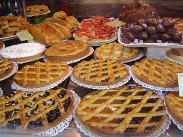 cakes sold at Gargani in Rome