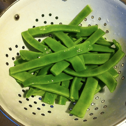 Italian taccole are runner beans or mange tout