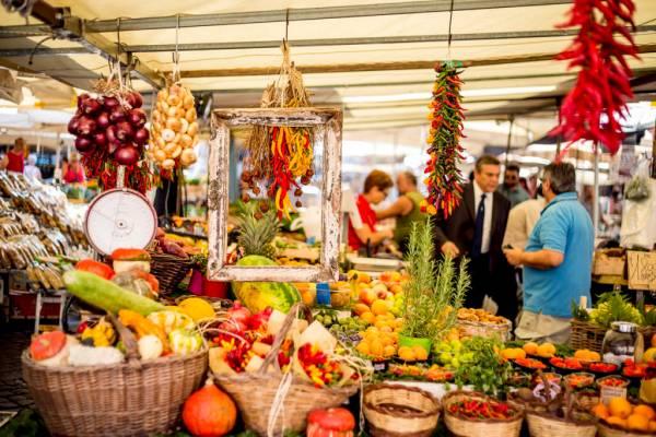 Farmer's market in Rome