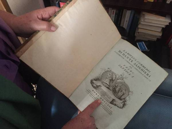 Anna owns a very old copy of La Divina Commedia · www.italyfoodandwinetours.com
