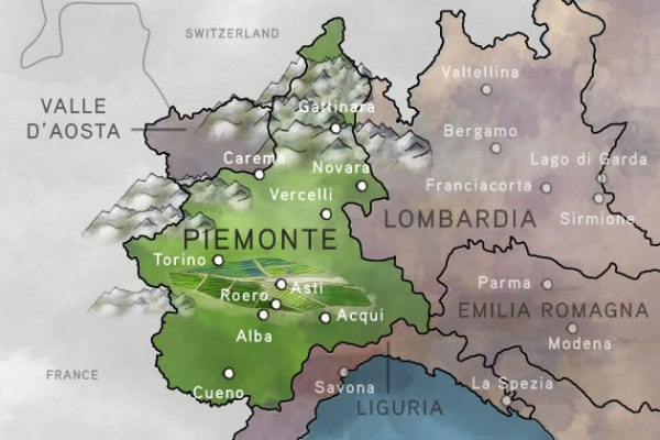 Piemonte in northern Italy · www.italyfoodandwinetours.com
