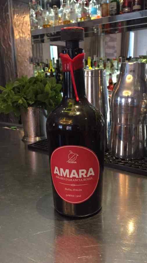"""Amara"" amaro from Sicily"
