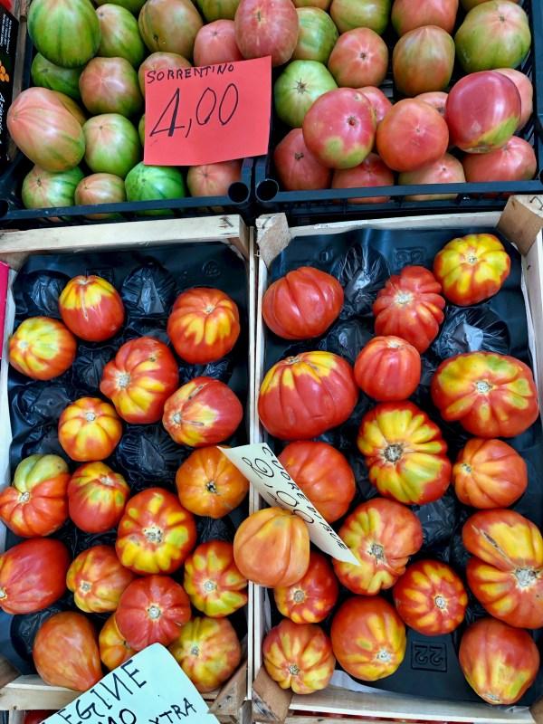 sorrentino tomatoes and cuore di bue