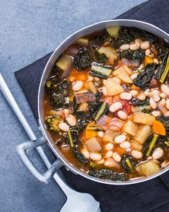 ribollita is made with tuscan kale and bread