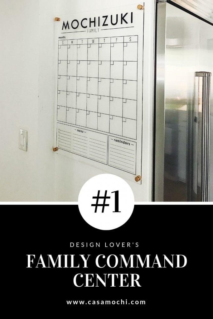 Minimal Family Command Center Wall Calendar