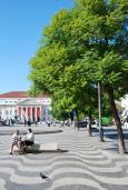 Praça dom Pedro IV (met Teatro Nacional op de achtergrond)