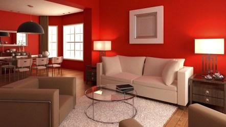 pintar casa rojo colores pintura como tu significado sala hogar espacios actual roja elegir afuera esmalte living cocina departamento