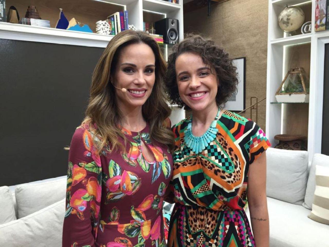 Ana Furtado e Sammia Ferreira no É de Casa da TV Globo