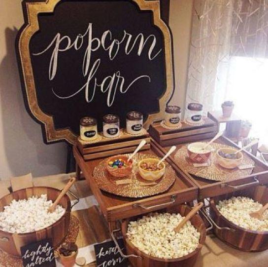 Pipoca gourmet nos casamentos