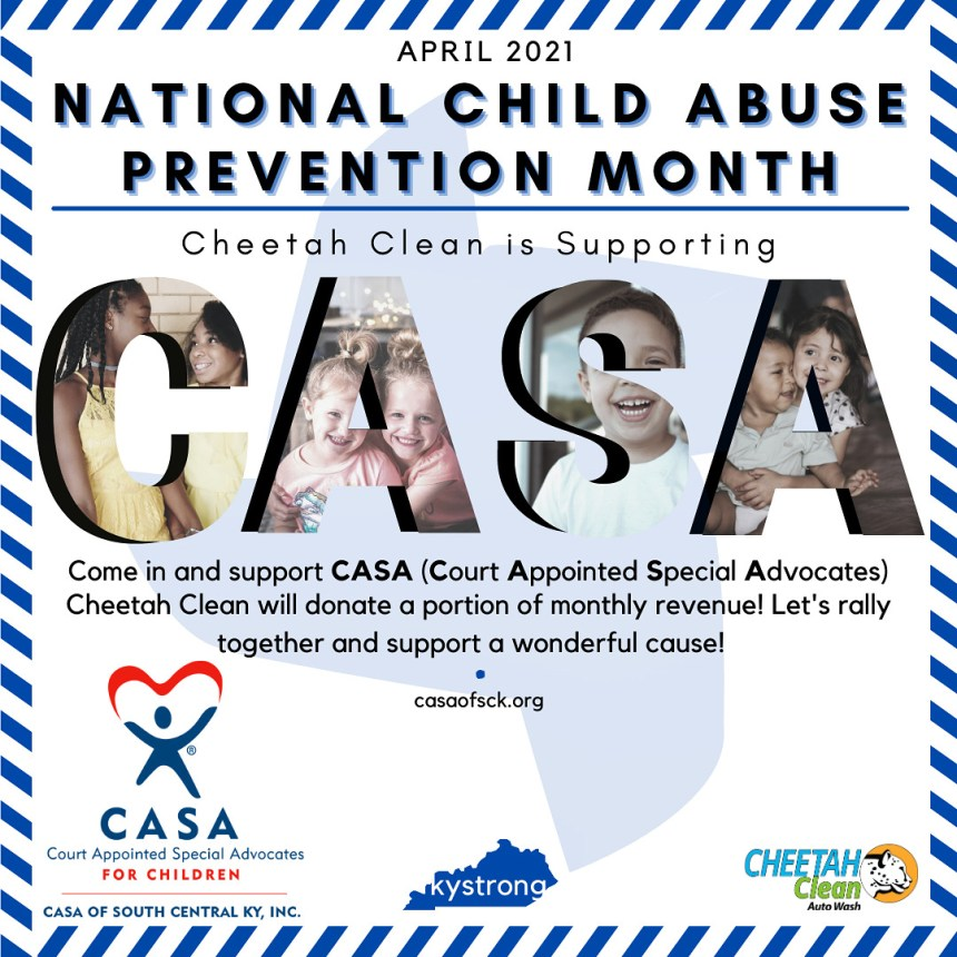 Cheetah Clean Supports CASA
