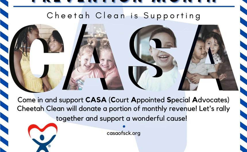 Cheetah Clean Supports CASA