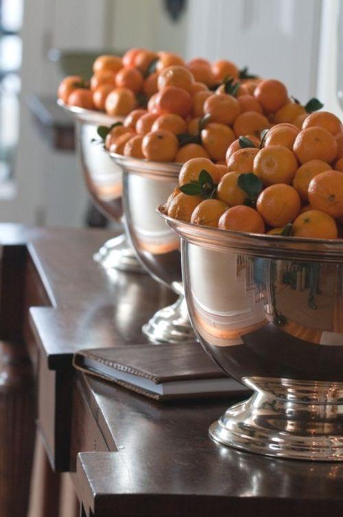 adornar  rincones con frutas