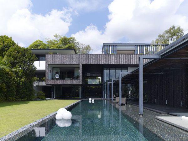 Arquitectura moderna para una impactante casa for Piani di casa contemporanea moderna