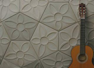 Azulejo de cemento con diseño de flores