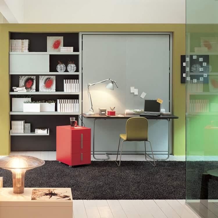 Muebles para ahorrar espacio cama y escritorio ulisse for Muebles escritorio para casa