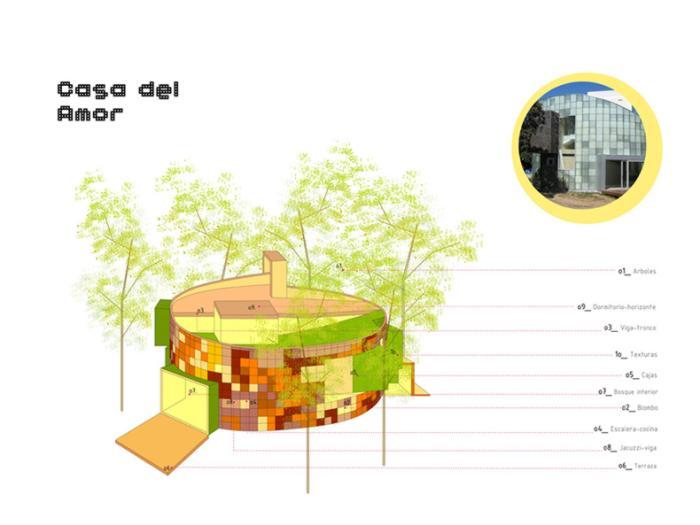 casa de diseño original: casa del amor