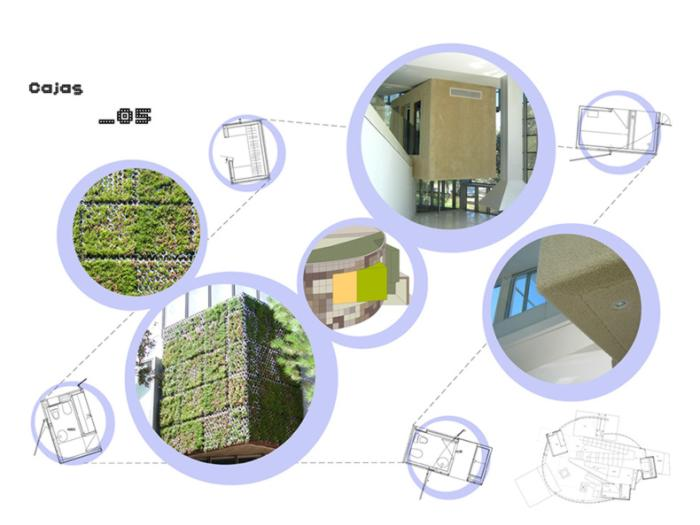 Paredes verdes en una casa contemporánea