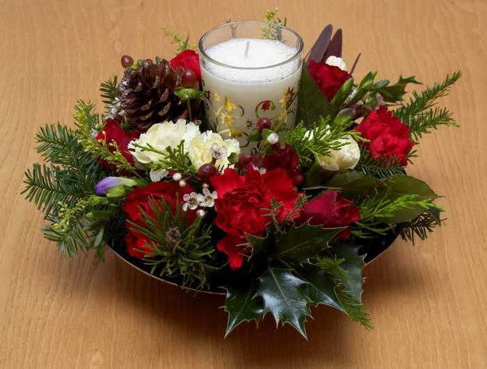 Ideas de centros de mesa para navidad segunda parte - Centro mesa velas ...