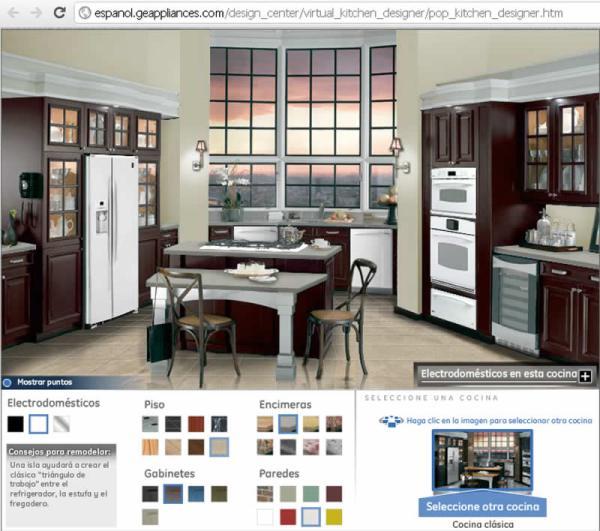 Simulador de cocinas peque as y no tanto for Cocinas pequenas con isla