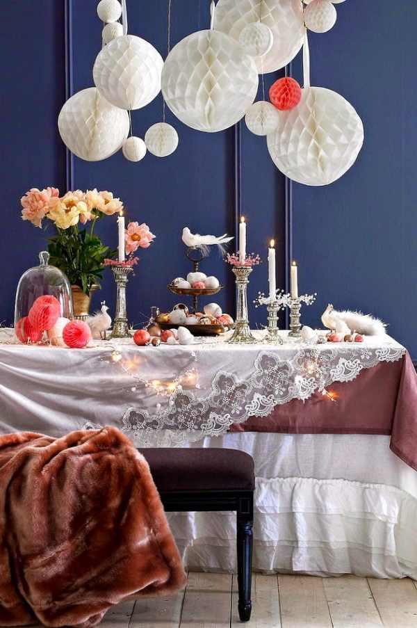 cómo decorar las mesas estas fiestas