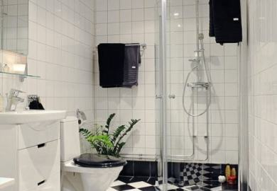 Black And White Bathroom Curtain Ideas