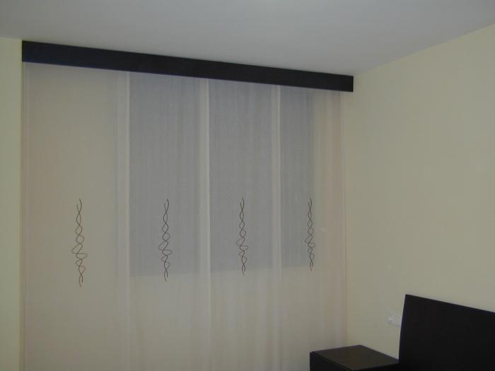 Vestir una ventana tipos de cortinas - Cortinas panel japones fotos ...