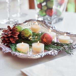 cómo decorar mesas en Navidad, nochevieja y año nuevo