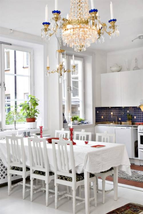 decorar en blanco el comedor y la cocina