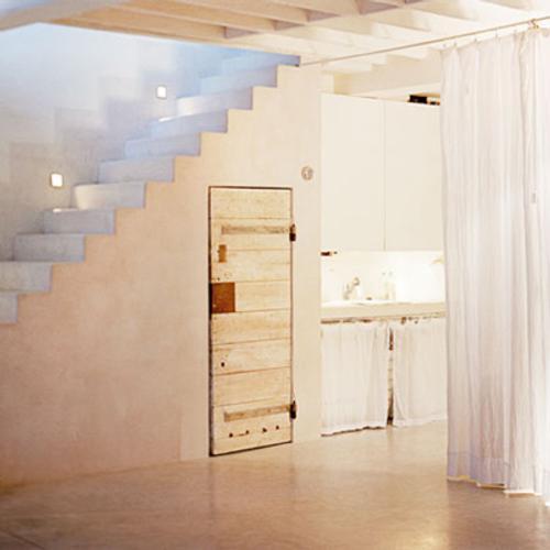 Blanco y texturas en un interior