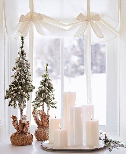 ideas de Navidad . decorar con velas