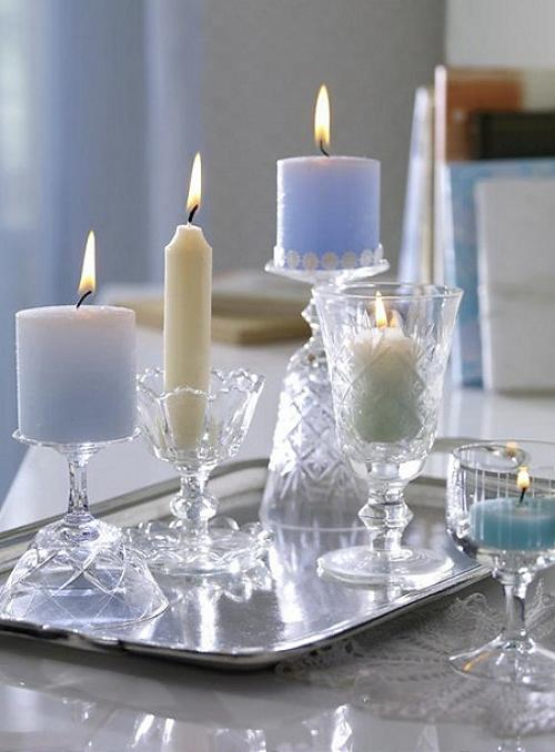 Detalles con velas para la decoraci n de navidad for Decorar jarrones con velas