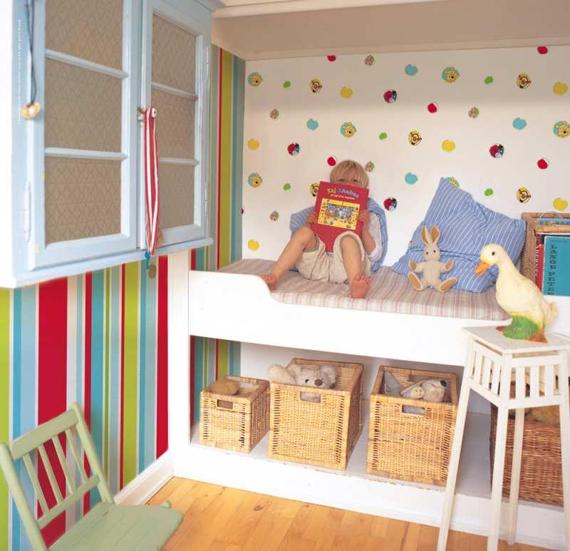 dormitorios infantiles con papel de pared