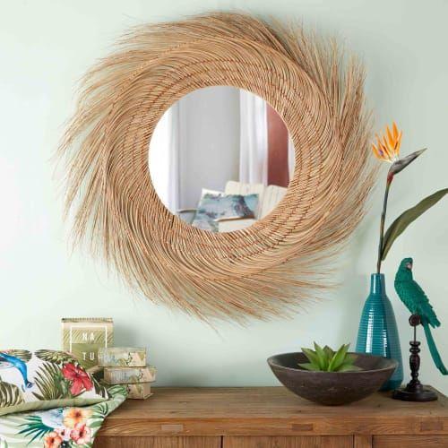 espejo de fibra de coco