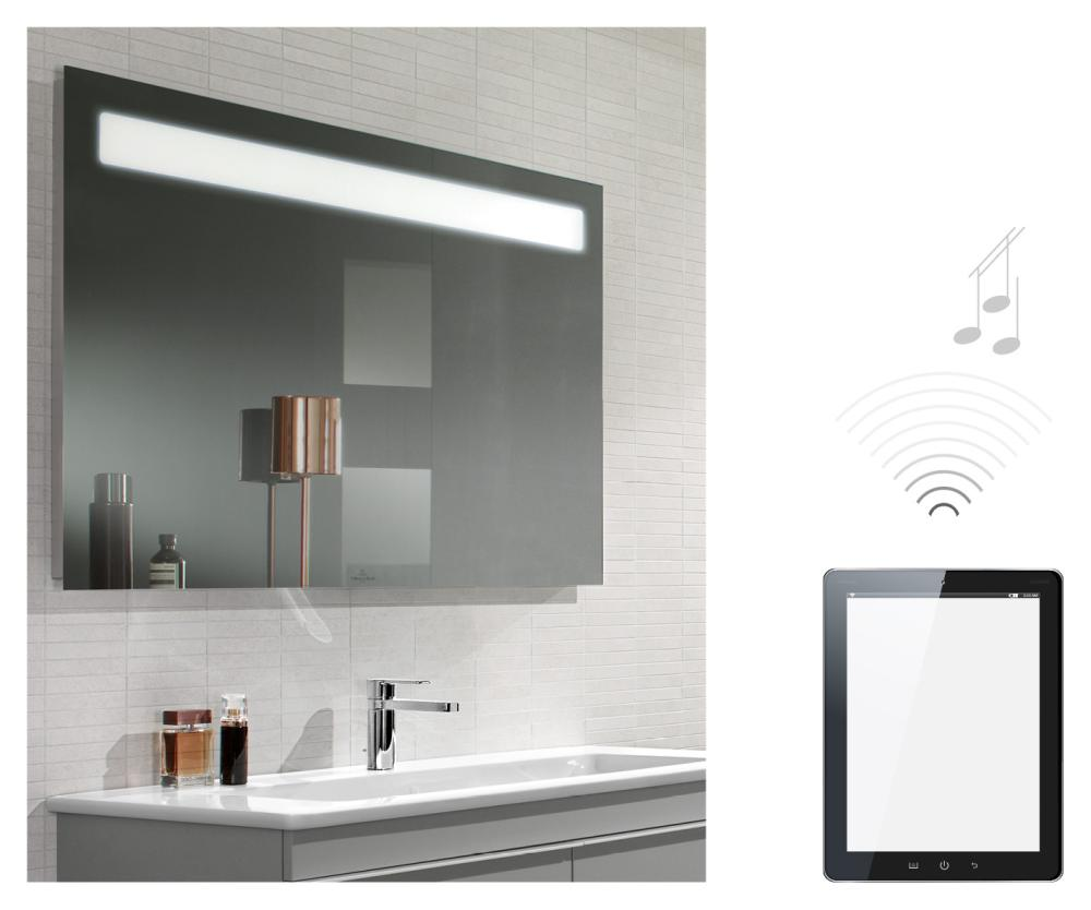 espejo que integra msica e iluminacin