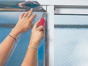 Films plasticos para ventanas - Retirar sobrante