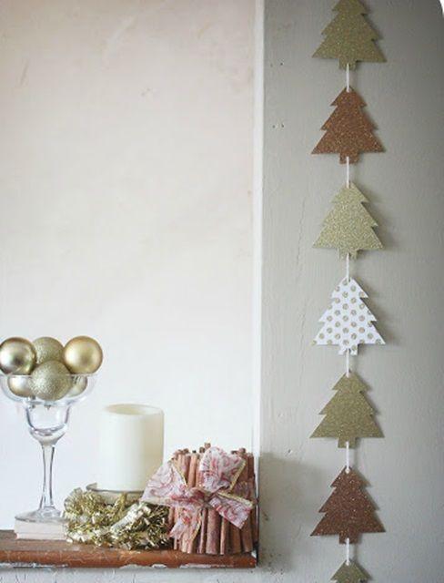 Diy navidad ideas simples para decorar - Guirnaldas navidad manualidades ...