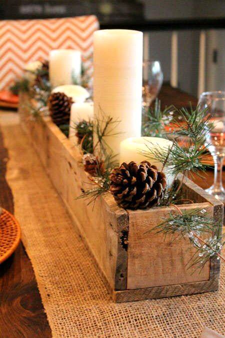 ideas simples para decorar en Navidad