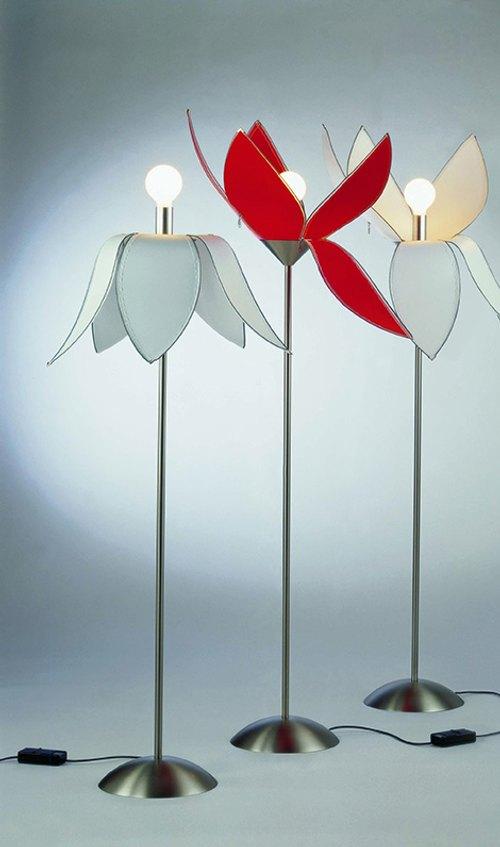 L mpara de mesa y de pie con forma de flor tulip - Lampara de pie con mesa ...