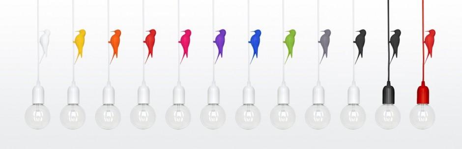 diseños luminarias coloridas