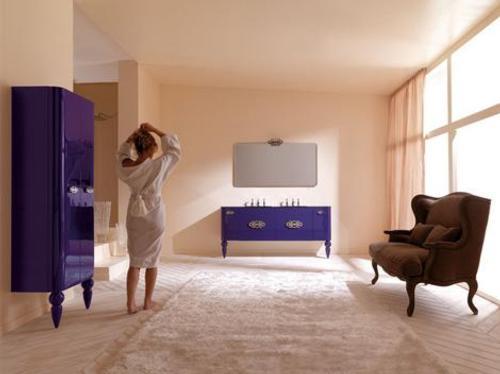 Muebles retro moderno para el cuarto de ba o - Muebles cuarto bano ...